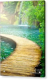 Boardwalk Art Acrylic Print by Boon Mee