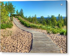 Boardwalk Through The Dunes Acrylic Print by Twenty Two North Photography