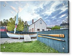 Boat And Oars Acrylic Print by Eric Gendron