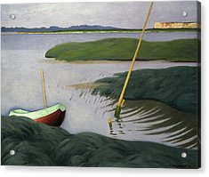 Boat At Berville Acrylic Print by Felix Edouard Vallotton