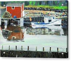 Boat At Louisburg Ns Acrylic Print by Michael Daniels