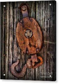 Boat - Block And Tackle Acrylic Print by Paul Ward