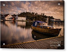 Boat On The River Acrylic Print by Mirra Photography