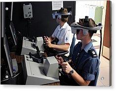 Boat Simulator Consoles Acrylic Print by Us Air Force/bob Krekorian