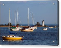 Boating On Long Island Sound Acrylic Print by Joann Vitali