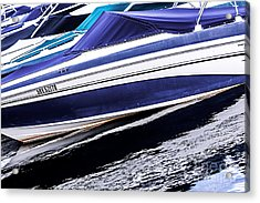 Boats And Reflections Acrylic Print by Elena Elisseeva