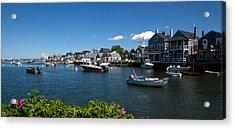 Boats At A Harbor, Nantucket Acrylic Print by Panoramic Images