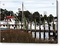 Boats At Little River Acrylic Print by John Rizzuto