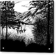 Boats Acrylic Print by Carl Genovese