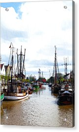 Boats In The Old Harbor Acrylic Print by Steve K