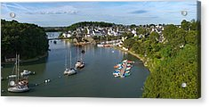 Boats In The Sea, Le Bono, Gulf Of Acrylic Print by Panoramic Images
