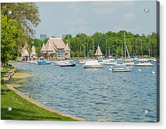 Boats Of Lake Harriet Acrylic Print by Near and Far Photography
