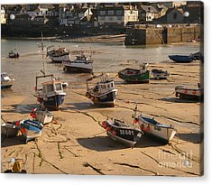 Boats On Beach 03 Acrylic Print by Pixel Chimp