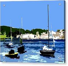 Boats On Strangford Lough Acrylic Print by Patrick J Murphy