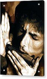 Bob Dylan Artwork 2 Acrylic Print by Sheraz A
