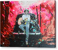 Bob Dylan - Crossroads Acrylic Print by Lucia Hoogervorst
