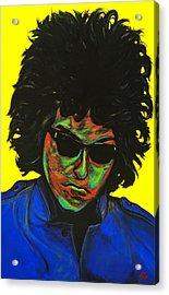 Bob Dylan Acrylic Print by Edward Pebworth