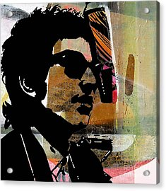 Bob Dylan Recording Session Acrylic Print by Marvin Blaine