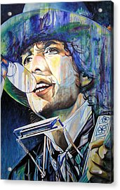 Bob Dylan Tangled Up In Blue Acrylic Print by Joshua Morton