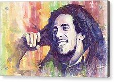 Bob Marley 02 Acrylic Print by Yuriy  Shevchuk