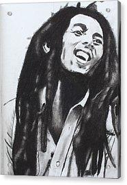 Bob Marley Acrylic Print by Aaron Balderas