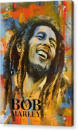 Bob Marley Acrylic Print by Corporate Art Task Force