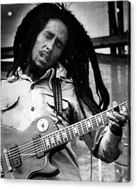 Bob Marley Playing Guitar Acrylic Print by Retro Images Archive