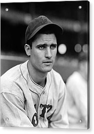 Bobby Doerr Looking Into Distance Acrylic Print by Retro Images Archive