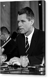 Bobby Kennedy Speaking Before The Senate Acrylic Print by War Is Hell Store