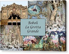 Boboli La Grotta Grande 1 Acrylic Print by Ellen Henneke