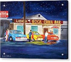 Boca Chica Bar Acrylic Print by Linda Cabrera