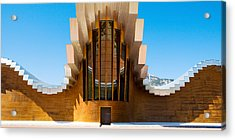 Bodegas Ysios Winery Building, La Acrylic Print by Panoramic Images