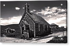 Bodie Ghost Town - Spooky Church Acrylic Print by Gregory Dyer