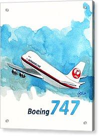 Boeing 747 Jumbo Acrylic Print by Yoshiharu Miyakawa