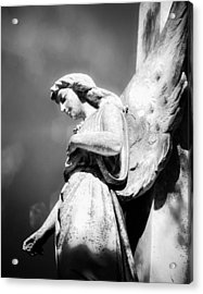 Bokeh Angel In Infrared Acrylic Print by Sonja Quintero