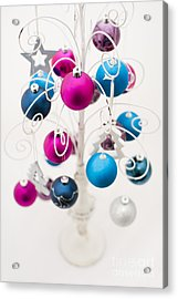 Bold Baubles Acrylic Print by Anne Gilbert