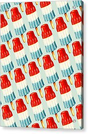 Bomb Pop Pattern Acrylic Print by Kelly Gilleran