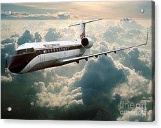 Bombardier-canadair Regional Jet Crj Acrylic Print by Wernher Krutein
