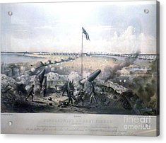 Bombardment Of Fort Fisher Acrylic Print by Celestial Images