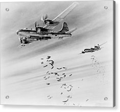 Bombs Over Burma Acrylic Print by US Army Air Force