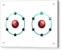 Bond Formation In Oxygen Molecule Acrylic Print by Animate4.com/science Photo Libary