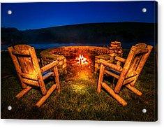 Bonfire Acrylic Print by Alexey Stiop
