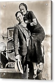 Bonnie And Clyde - Texas Acrylic Print by Daniel Hagerman
