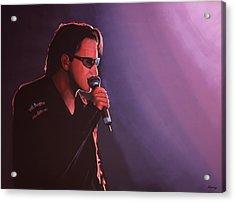 Bono U2 Acrylic Print by Paul Meijering