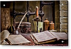 Book Keeper Acrylic Print by Heather Applegate