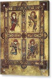 Book Of Kells. 8th-9th C. Fol.27v Acrylic Print by Everett