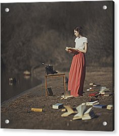 Books Acrylic Print by Anka Zhuravleva