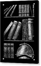 Books On Shelves Acrylic Print by Jim Harris