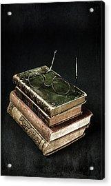 Books With Glasses Acrylic Print by Joana Kruse