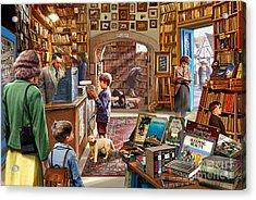 Bookshop Acrylic Print by Steve Crisp
